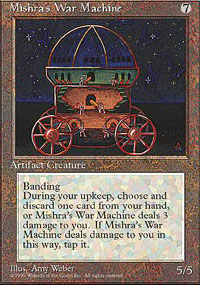 Magic the Gathering 4th Edition Single Mishra's War Machine - NEAR MINT (NM)
