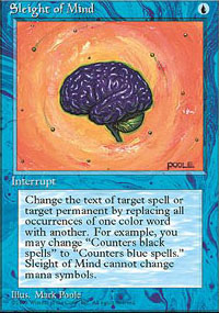 Magic the Gathering 4th Edition Single Sleight of Mind - NEAR MINT (NM)