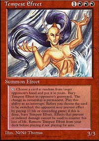 Magic the Gathering 4th Edition Single Tempest Efreet - NEAR MINT (NM)
