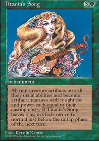 Magic the Gathering 4th Edition Single Titania's Song - NEAR MINT (NM)