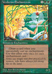 Magic the Gathering 4th Edition Single Verduran Enchantress UNPLAYED (NM/MT)