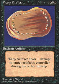 Magic the Gathering 4th Edition Single Warp Artifact UNPLAYED (NM/MT)