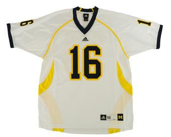 University of Michigan Wolverines Adidas #16 Authentic Football Jersey (Adult L)