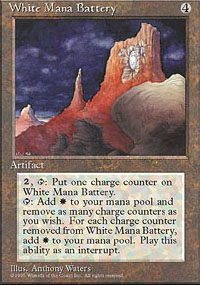 Magic the Gathering 4th Edition Single White Mana Battery - SLIGHT PLAY (SP)