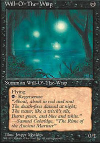 Magic the Gathering 4th Edition Single Will-o'-the-Wisp - NEAR MINT (NM)