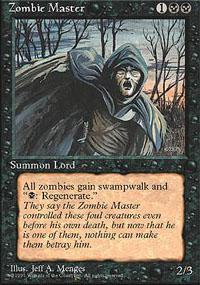 Magic the Gathering 4th Edition Single Zombie Master UNPLAYED (NM/MT)