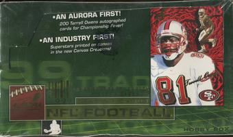 1999 Pacific Aurora Football Hobby Box
