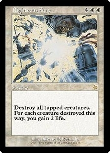 Magic the Gathering Starter Single Righteous Fury - SLIGHT PLAY (SP)