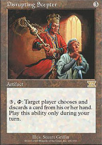 Magic the Gathering 6th Edition Single Disrupting Scepter - NEAR MINT (NM)