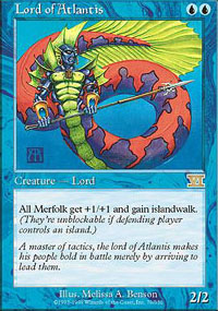 Magic the Gathering 6th Edition Single Lord of Atlantis UNPLAYED (NM/MT)