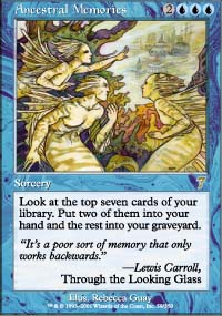 Magic the Gathering 7th Edition Single Ancestral Memories - NEAR MINT (NM)