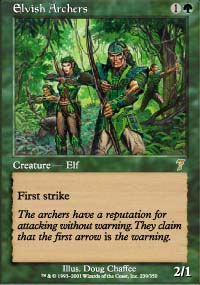 Magic the Gathering 7th Edition Single Elvish Archers Foil