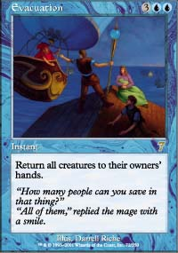 Magic the Gathering 7th Edition Single Evacuation - NEAR MINT (NM)