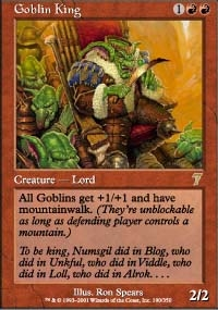 Magic the Gathering 7th Edition Single Goblin King Foil