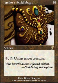 Magic the Gathering 7th Edition Single Jandor's Saddlebags - NEAR MINT (NM)
