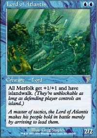Magic the Gathering 7th Edition Single Lord of Atlantis - NEAR MINT (NM)