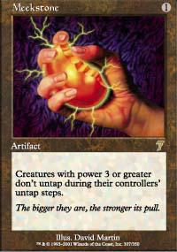 Magic the Gathering 7th Edition Single Meekstone Foil