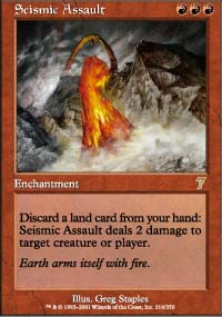Magic the Gathering 7th Edition Single Seismic Assault Foil