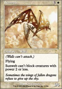 Magic the Gathering 7th Edition Single Sunweb - NEAR MINT (NM)