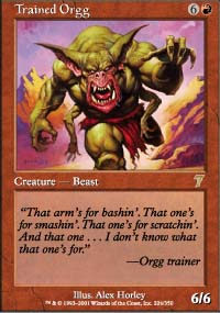 Magic the Gathering 7th Edition Singles 4x Trained Orgg UNPLAYED (NM/MT)