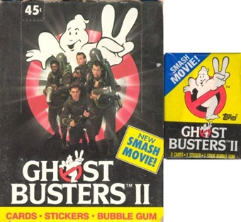 Ghostbusters II Wax Box (1989 Topps)