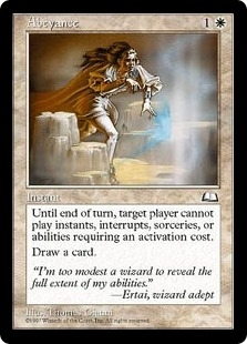 Magic the Gathering Weatherlight Single Abeyance - HEAVY PLAY (HP)