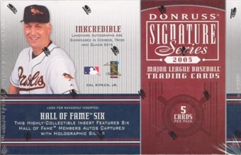 2005 Donruss Signature Series Baseball Hobby Pack