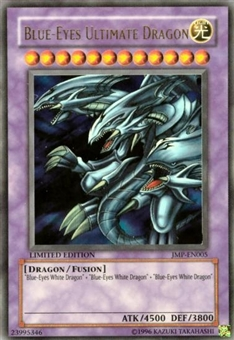 Yu-Gi-Oh Promo Single Blue-Eyes Ultimate Dragon Ultra Rare JMP - MODERATE PLAY (MP)