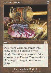 Magic the Gathering Onslaught Singles 4x Doom Cannon - NEAR MINT (NM)