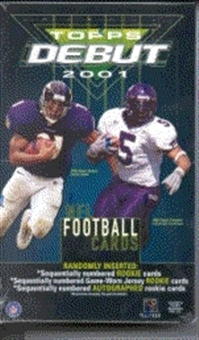 2001 Topps Debut Football Hobby Box