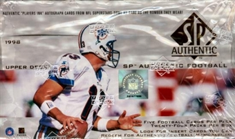 1998 Upper Deck SP Authentic Football Hobby Box (torn shrinkwrap)