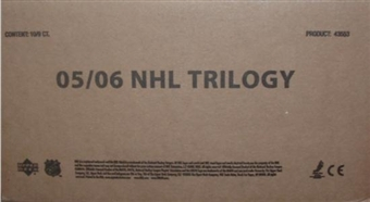 2005/06 Upper Deck Trilogy Hockey Hobby 10-Box Case