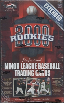 2000 Team Best Rookies Extended Baseball Hobby Box
