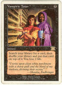 Magic the Gathering 6th Edition Single Vampiric Tutor - MODERATE PLAY (MP)