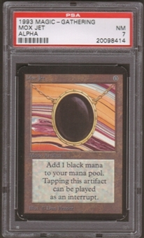 Magic the Gathering Alpha Single Mox Jet PSA 7