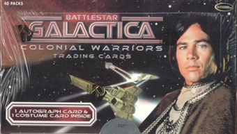 Battlestar Galactica Colonial Warriors Trading Cards Box (Rittenhouse 2006)