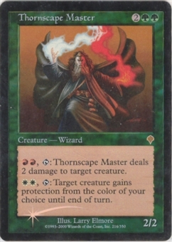 Magic the Gathering Invasion Single Thornscape Master FOIL