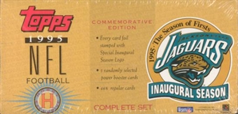 1995 Topps Jacksonville Jaguars Football Factory Set