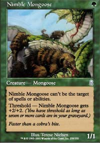 Magic the Gathering Odyssey Single Nimble Mongoose FOIL - NEAR MINT (NM)