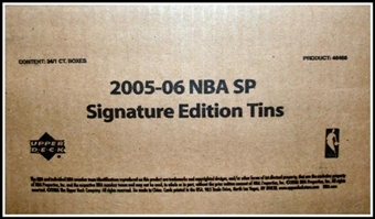 2005/06 Upper Deck SP Signature Basketball Hobby 24-Tin (Box) Case