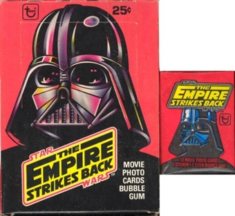 Star Wars Empire Strikes Back Series 1 Wax Box (1980 Topps)