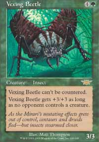 Magic the Gathering Legions Single Vexing Beetle - NEAR MINT (NM)