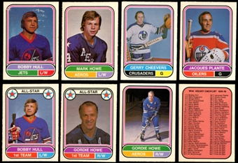 1975/76 O-Pee-Chee WHA Hockey Complete Set (NM-MT)