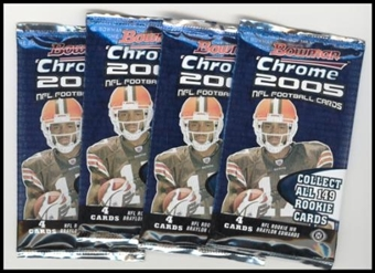 2005 Bowman Chrome Football Hobby Pack