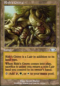 Magic the Gathering Planeshift Single Rith's Grove FOIL - MODERATE PLAY (MP)