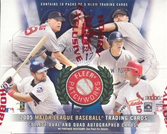 2005 Fleer Patchworks Baseball Hobby Box (Upper Deck)