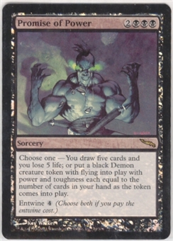Magic the Gathering Mirrodin Single Promise of Power Foil