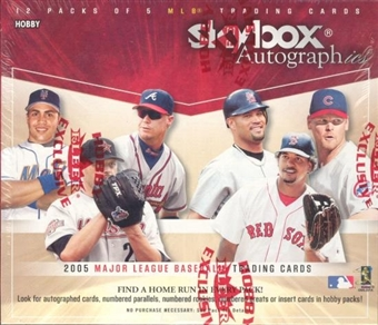 2005 Fleer Skybox Autographics Baseball Hobby Box (Upper Deck)