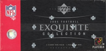 2005 Upper Deck Exquisite Football Hobby Box