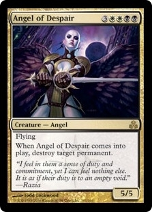 Magic the Gathering Guildpact Single Angel of Despair Foil - NEAR MINT (NM)